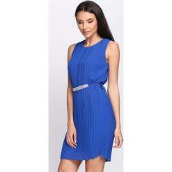 Sukienki: Kobaltowa Sukienka Winter Cherry