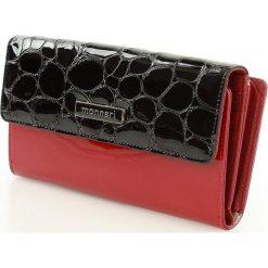 MONNARI Elegancki skórzany portfel damski czerwony. Szare portfele damskie marki Monnari, w paski, z materiału, duże. Za 149,00 zł.