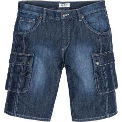 """Bermudy bojówki Regular Fit bonprix ciemnoniebieski """"used"""". Niebieskie bermudy męskie marki House, z jeansu. Za 99,99 zł."""
