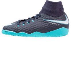Nike Performance HYPERVENOMX PHELON 3 DF IC Halówki obsidian/white/gamma blue/glacier blue. Niebieskie buty sportowe męskie Nike Performance, z gumy. W wyprzedaży za 223,20 zł.