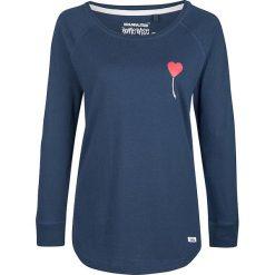 Koszulka w kolorze granatowym. Niebieskie bluzki z odkrytymi ramionami Homebase, Tuffskull & Soulstar, m, z nadrukiem, z okrągłym kołnierzem. W wyprzedaży za 106,95 zł.