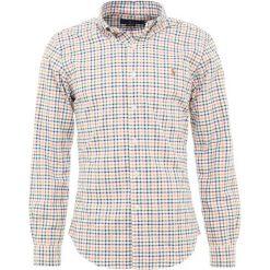 Polo Ralph Lauren OXFORD SLIM FIT Koszula orange/blue. Szare koszule męskie slim marki Polo Ralph Lauren, l, z bawełny, button down, z długim rękawem. Za 419,00 zł.