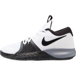 Nike Performance ZOOM ASSERSION Obuwie do koszykówki white/black/cool grey/anthracite. Białe buty sportowe chłopięce Nike Performance, z materiału. W wyprzedaży za 239,20 zł.
