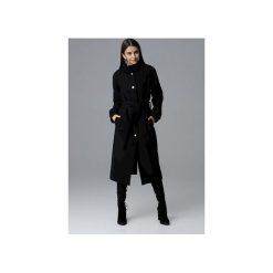 Płaszcz M624 Czarny. Czarne płaszcze damskie FIGL, m, w paski, eleganckie. Za 329,00 zł.