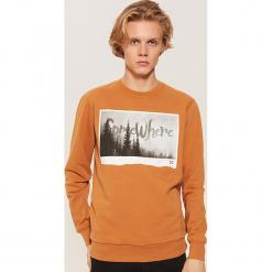Bluza z fotonadrukiem - Brązowy. Czarne bluzy męskie rozpinane marki House, l, z nadrukiem. Za 79,99 zł.