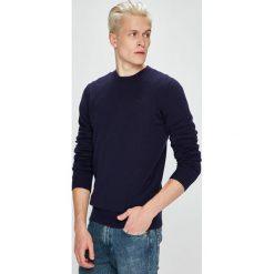 Trussardi Jeans - Sweter. Szare swetry klasyczne męskie marki Trussardi Jeans, l, z bawełny, z okrągłym kołnierzem. W wyprzedaży za 369,90 zł.