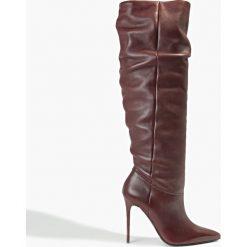 Kozak bordowy Jazmin. Czerwone buty zimowe damskie Badura. Za 439,99 zł.