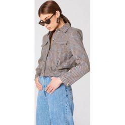 Bomberki damskie: Trendyol Krótka kurtka w kratkę - Brown,Multicolor