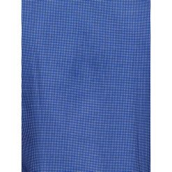KOSZULA MĘSKA Z DŁUGIM RĘKAWEM K411 - BIAŁA/GRANATOWA. Brązowe koszule męskie marki Ombre Clothing, m, z aplikacjami, z kontrastowym kołnierzykiem, z długim rękawem. Za 69,00 zł.