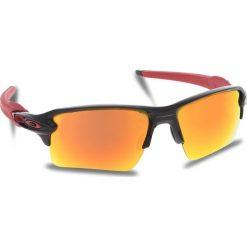 Okulary przeciwsłoneczne OAKLEY - Flak 2.0 Xl OO9188-8059 Polished Black/Prizm Ruby. Czarne okulary przeciwsłoneczne męskie aviatory Oakley, z tworzywa sztucznego. W wyprzedaży za 549,00 zł.