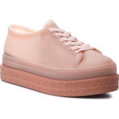 Półbuty MELISSA - Be II Ad 32349 Pink 53297. Czerwone creepersy damskie Melissa, z materiału, na koturnie. Za 339,00 zł.