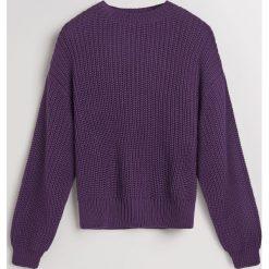 Sweter oversize - Fioletowy. Fioletowe swetry oversize damskie marki DOMYOS, l, z bawełny. Za 139,99 zł.