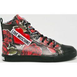 Love Moschino - Buty. Szare buty sportowe damskie marki Love Moschino, z gumy. Za 799,90 zł.