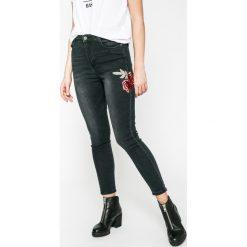 Answear - Jeansy. Czarne jeansy damskie rurki marki ANSWEAR, z bawełny, z podwyższonym stanem. W wyprzedaży za 89,90 zł.