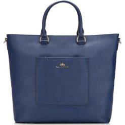 Torebka damska 85-4E-405-7. Niebieskie torebki klasyczne damskie Wittchen, w paski, ze skóry. Za 415,00 zł.