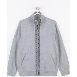 Bluza. Szare bluzy chłopięce rozpinane marki BASIC BOY, z napisami, z bawełny. Za 69,90 zł.