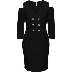Sukienka z wycięciami bonprix czarny. Czarne sukienki balowe marki bonprix. Za 99,99 zł.