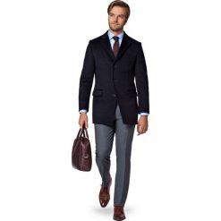 Płaszcz Granatowy Jarred. Niebieskie płaszcze na zamek męskie marki LANCERTO, na jesień, m, z bawełny, eleganckie. W wyprzedaży za 499,90 zł.
