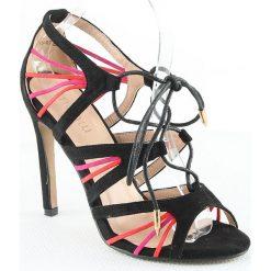 Sandały damskie: Sandały w kolorze czarno-czerwonym