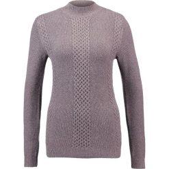 Swetry klasyczne damskie: Soyaconcept BASIMA  Sweter dark plum melange