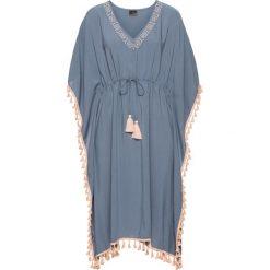 Sukienki: Sukienka z ozdobną tasiemką bonprix dymny niebieski – jasny brzoskwiniowy