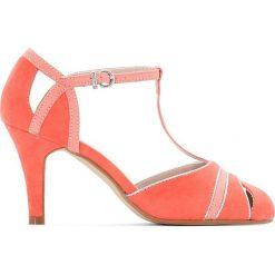 Rzymianki damskie: Czółenka sandały w kolorze brzoskwiniowym