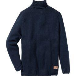 Swetry męskie: Sweter z golfem Regular Fit bonprix ciemnoniebieski melanż