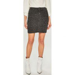Answear - Spódnica. Szare minispódniczki ANSWEAR, l, z bawełny, proste. Za 99,90 zł.