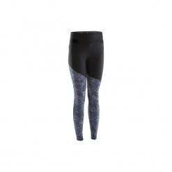Legginsy Do Biegania Run Warm+ Damskie. Czarne legginsy marki KALENJI, l, z elastanu. W wyprzedaży za 49,99 zł.