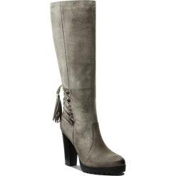 Kozaki EVA MINGE - Ercilia 2O 17SM1372223EF 409. Szare buty zimowe damskie Eva Minge, z nubiku, na obcasie. W wyprzedaży za 349,00 zł.