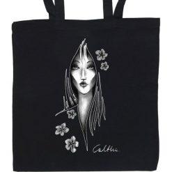 Shopper bag damskie: Kwiaty – torba (2 kolory)