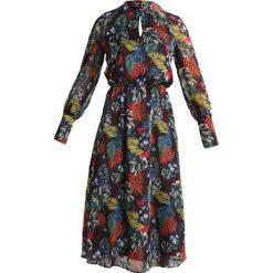 Długie sukienki: SET Długa sukienka khaki/red