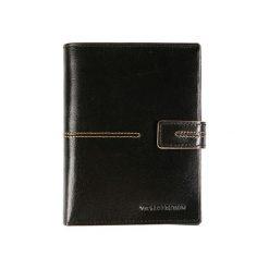 Portfele męskie: Skórzany portfel w kolorze czarnym – (S)11 x (W)14 cm