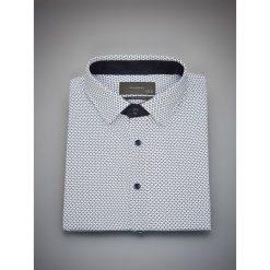 Wzorzysta koszula slim fit - Niebieski. Białe koszule męskie slim marki Reserved, l, z dzianiny. Za 99,99 zł.