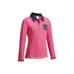 Bluzki dziewczęce: Koszulka polo róż-fiolet