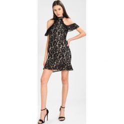 Sukienki: Missguided HIGH NECK COLD SHOULDER FLIPPY HEM BODYCON Sukienka koktajlowa black