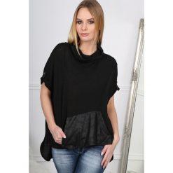 T-shirty damskie: Czarny T-shirt z Golfem  BB20661