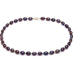Naszyjniki damskie: Naszyjnik w kolorze czarnym z pereł – (D)45 cm