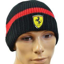 Czapki męskie: Puma Czapka zimowa męska SF Beanie czarno-czerwona (C0151)