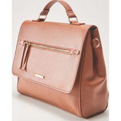 Torebka z odpinanym paskiem - Brązowy. Brązowe torebki klasyczne damskie House. Za 79,99 zł.