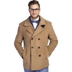 Płaszcz SAMUELE PSKS000031. Brązowe płaszcze na zamek męskie Giacomo Conti, na jesień, m, z kaszmiru, eleganckie. Za 1199,00 zł.