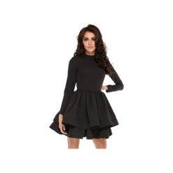 Sukienka OOH LA LA Black. Czarne sukienki koktajlowe Ooh la la, l, z długim rękawem, rozkloszowane. Za 269,00 zł.