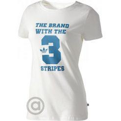 Bluzki sportowe damskie: Adidas Koszulka Univerzity Tee q2 Running White 40