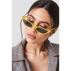 Okulary przeciwsłoneczne damskie: NA-KD Trend Okulary przeciwsłoneczne retro – Yellow