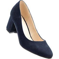 Buty ślubne damskie: Czółenka w 2 szerokościach bonprix ciemnoniebieski