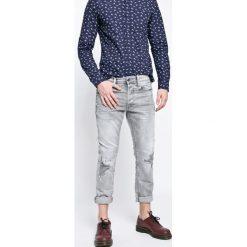 G-Star Raw - Jeansy 3301. Szare jeansy męskie slim marki G-Star RAW, z aplikacjami, z bawełny. W wyprzedaży za 449,90 zł.