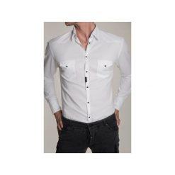 Koszula BLACK COLT COWBOY 2. Białe koszule męskie na spinki Guns&tuxedos, z tkaniny, z klasycznym kołnierzykiem. Za 399,00 zł.
