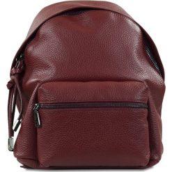 """Plecaki damskie: Skórzany plecak """"Brenda"""" w kolorze bordowym – 24 x 29 x 6 cm"""