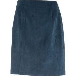 Spódnica welurowa z zamkiem bonprix ciemnoniebieski. Niebieskie spódniczki marki Mads Nørgaard, z bawełny. Za 89,99 zł.