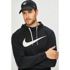 Nike - Bluza. Czarne bejsbolówki męskie Nike, l, z nadrukiem, z dzianiny, z kapturem. W wyprzedaży za 179,90 zł.